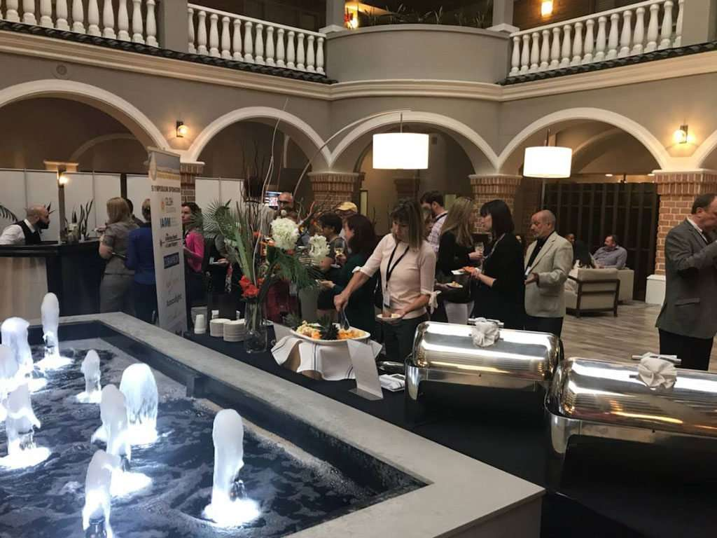 Cocktail hour at the 2018 Symposium