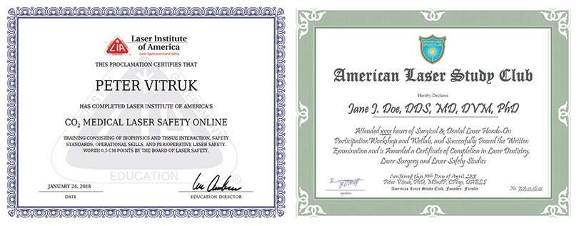 ALSC certified laser surgery dentistry safety