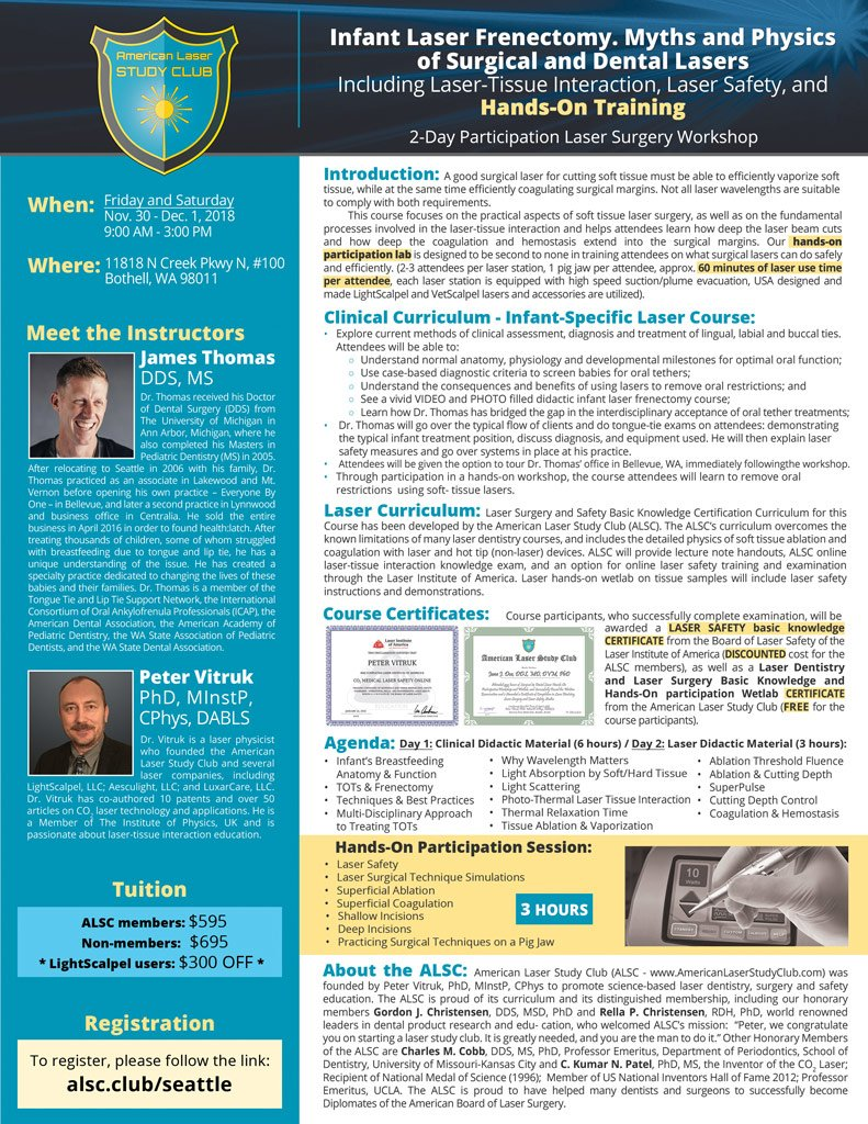 Frenectomy Course Flyer