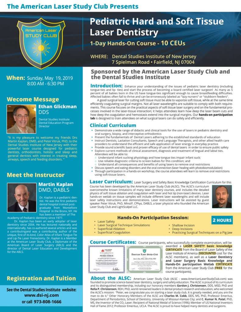 Hard and Soft Tissue Laser Dentistry Course